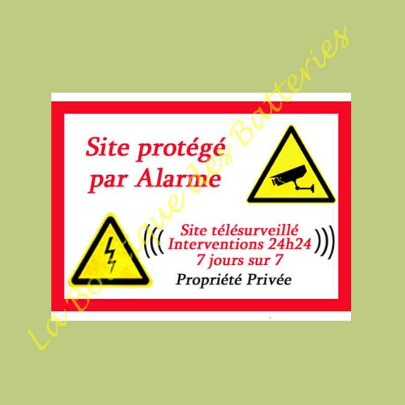 Autocolant site protégé à coller