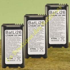 Piles Lithium Batli 26 3,6v 4Ah d'origine