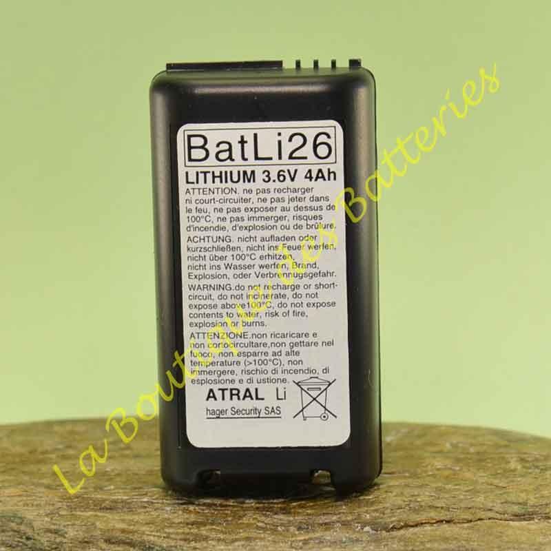 Batli26 3,6v 4Ah Batterie Lithium Daitem
