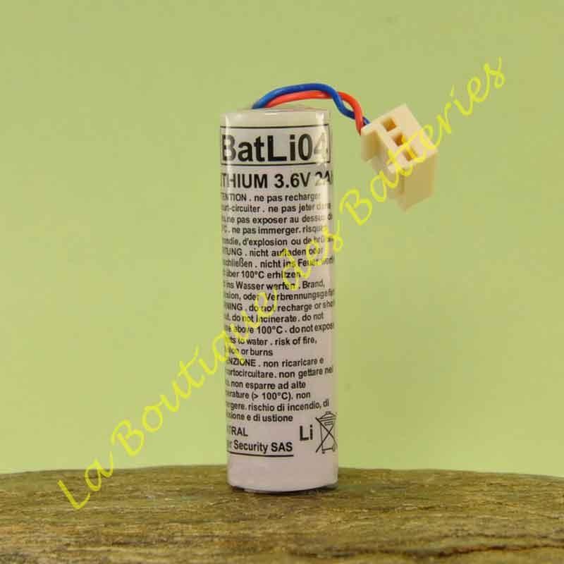 Batterie Batli04 3,6v 2Ah d'origine Logisty Hager