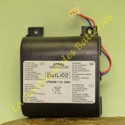 Batli 02 7,2v 13Ah  Logisty Hager