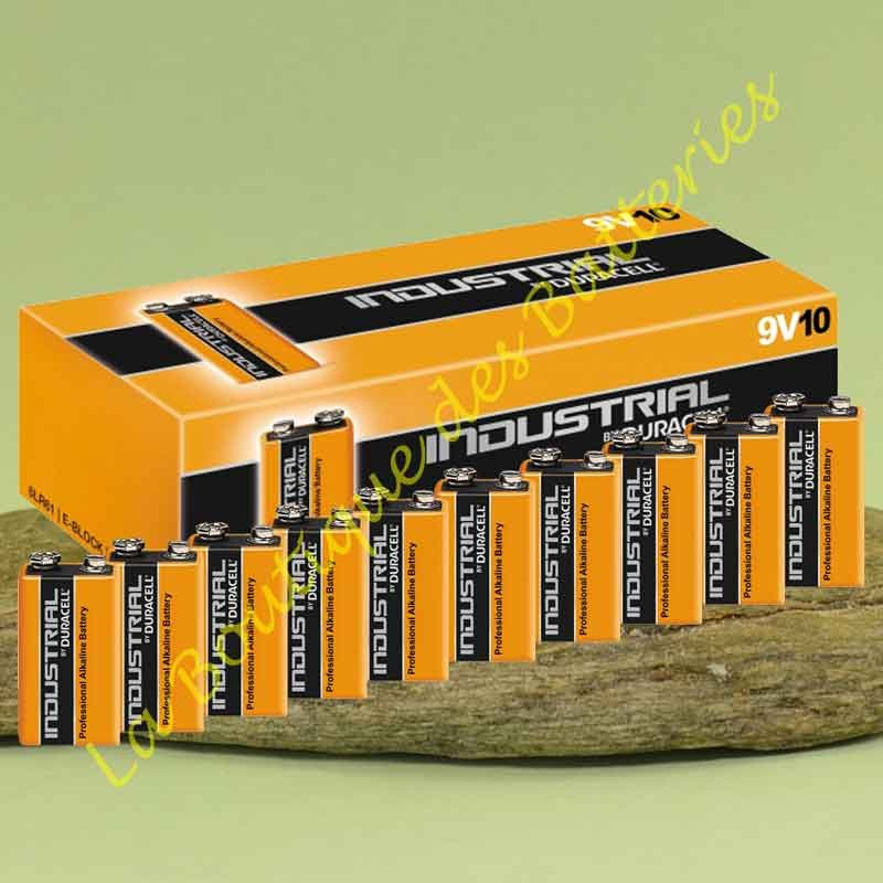 piles alcaline Duracell Procell Industrial 9 volts 6LR61