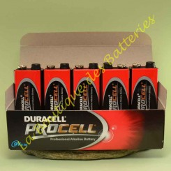 piles Duracell Procell Industrial 9 volts 6LR61