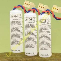 Batteries Batli04 3,6v 2Ah batsecur pour alarme Logisty Hager