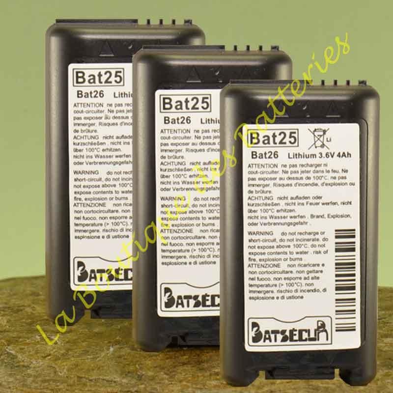 Batteries  Batli25 ou Batli26 compatible Logisty Hager