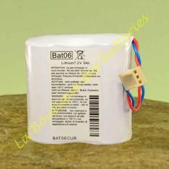 Batterie Batli06 7,2v 5Ah compatible Daitem Logisty Hager