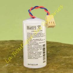 Batterie Batli01 3,6v 5Ah batsecur  pour alarme Daitem
