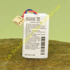 Batterie Lithium Batli05 3,6v 4Ah batsecur Daitem Hager